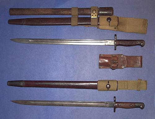 Lee Enfield Bayonet Markings http://canadiansoldiers.com/weapons/bayonets.htm